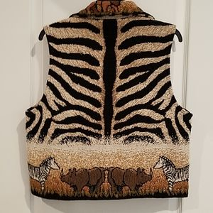 Painted Pony Jackets & Coats - Painted Pony Animal Print Vest